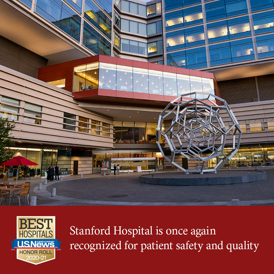 Stanford Hospital ranked among top 20 hospitals nationwide