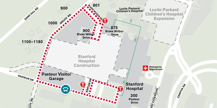 Stanford Hospital Map Parking | Maps and Directions | Stanford Health Care