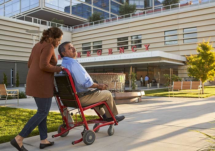 patients on the way to the new stanford hospital adult emergency department